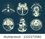 vintage marine and sea labels... | Shutterstock .eps vector #1222273582
