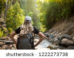 view from behind of a woman... | Shutterstock . vector #1222273738