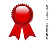 red prize ribbon on white | Shutterstock .eps vector #122227525