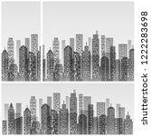 modern city skyline  city... | Shutterstock .eps vector #1222283698