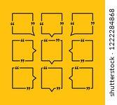 set vector square speech bubble ... | Shutterstock .eps vector #1222284868