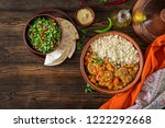 traditional tajine dishes ... | Shutterstock . vector #1222292668