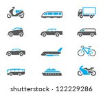 transportation icon series in... | Shutterstock .eps vector #122229286