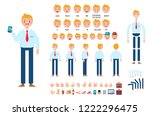 front  side  back view animated ... | Shutterstock .eps vector #1222296475