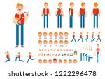 front  side  back view animated ... | Shutterstock .eps vector #1222296478