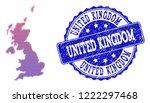 halftone dot map of united... | Shutterstock .eps vector #1222297468