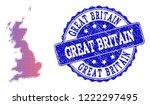 halftone dot map of great...   Shutterstock .eps vector #1222297495