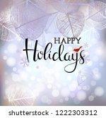 festive winter background of...   Shutterstock .eps vector #1222303312
