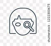 detective vector outline icon...   Shutterstock .eps vector #1222303675