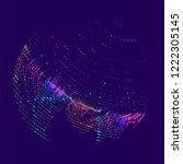 abstract vector background dot... | Shutterstock .eps vector #1222305145