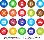 round color solid flat icon set ... | Shutterstock .eps vector #1222306915