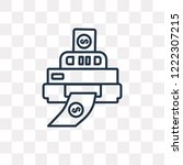 printer vector outline icon...   Shutterstock .eps vector #1222307215