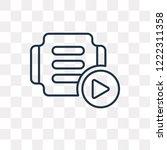 tutorial vector outline icon...   Shutterstock .eps vector #1222311358