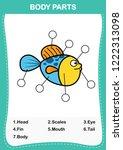 illustration of fish vocabulary ... | Shutterstock .eps vector #1222313098