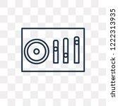 sound mixer vector outline icon ... | Shutterstock .eps vector #1222313935