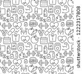 seamless pattern with sports... | Shutterstock .eps vector #1222317808