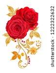 decorative ornament  paisley...   Shutterstock . vector #1222322632
