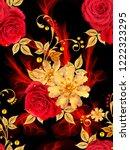 seamless pattern. decorative...   Shutterstock . vector #1222323295