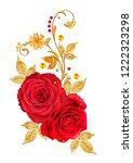 decorative ornament  paisley...   Shutterstock . vector #1222323298