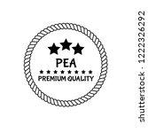 pea premium quality emblem ...   Shutterstock .eps vector #1222326292