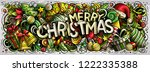 merry christmas hand drawn... | Shutterstock .eps vector #1222335388