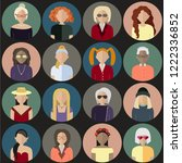 flat style people vector icons... | Shutterstock .eps vector #1222336852
