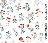 seamless floral pattern. hand...   Shutterstock .eps vector #1222339225