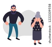 family violence and aggression... | Shutterstock .eps vector #1222339558