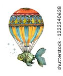 Balloon With Blue Fish ...