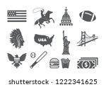 usa icons set | Shutterstock .eps vector #1222341625