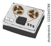 hand drawn reel recorder.... | Shutterstock .eps vector #1222343788