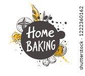 home baking. lettering. hand... | Shutterstock .eps vector #1222360162
