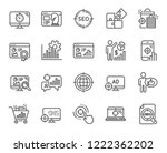 seo line icons. set of increase ... | Shutterstock .eps vector #1222362202