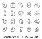 water drop line icons. set of... | Shutterstock .eps vector #1222362205