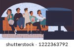 group of friends sitting on... | Shutterstock .eps vector #1222363792
