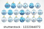set of vector gold silver and... | Shutterstock .eps vector #1222366072