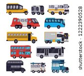 bus vector public transport... | Shutterstock .eps vector #1222390528