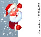 santa claus character holding... | Shutterstock .eps vector #1222394278