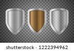 realistic detailed 3d metallic... | Shutterstock .eps vector #1222394962