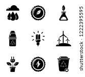 petrol station icons set.... | Shutterstock .eps vector #1222395595