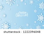 winter snowflakes background... | Shutterstock .eps vector #1222396048