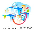 verification steps. people... | Shutterstock .eps vector #1222397305