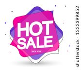 hot sale  tag design template ... | Shutterstock .eps vector #1222399852