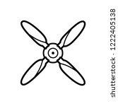 plane propeller icon vector...   Shutterstock .eps vector #1222405138
