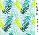 fern frond herbs  tropical... | Shutterstock .eps vector #1222406998