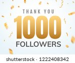 thank you 1000 followers design ... | Shutterstock .eps vector #1222408342