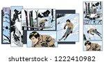 stock illustration. people in...   Shutterstock .eps vector #1222410982