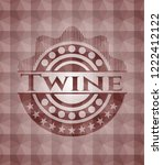twine red seamless emblem or...   Shutterstock .eps vector #1222412122