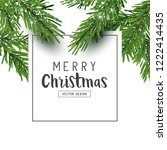 festive christmas design layout ... | Shutterstock .eps vector #1222414435