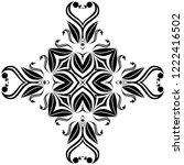 seamless abstract geometrical... | Shutterstock . vector #1222416502
